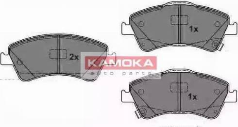 Kamoka JQ1018094 - Kit de plaquettes de frein, frein à disque www.widencarpieces.com