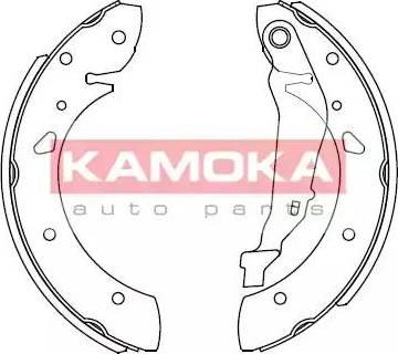 Kamoka JQ202026 - Jeu de freins, freins à tambour www.widencarpieces.com