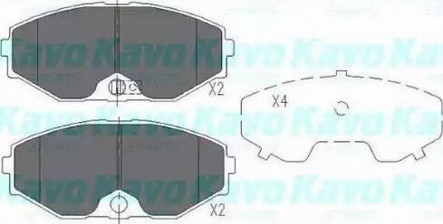 Kavo Parts KBP-6553 - Kit de plaquettes de frein, frein à disque www.widencarpieces.com