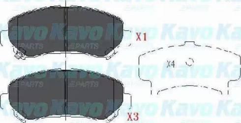 Ashika 50-01-123 - Kit de plaquettes de frein, frein à disque www.widencarpieces.com