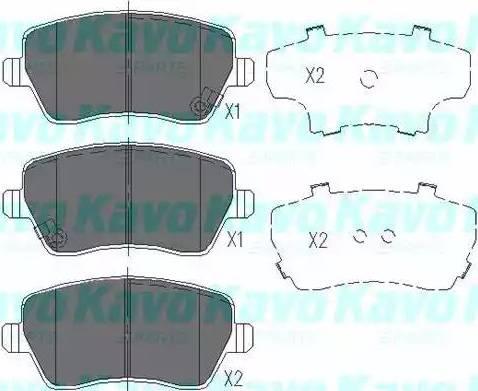 Kavo Parts KBP-8522 - Kit de plaquettes de frein, frein à disque www.widencarpieces.com