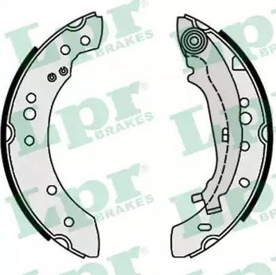 LPR 09640 - Jeu de freins, freins à tambour www.widencarpieces.com