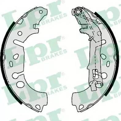 LPR 09100 - Jeu de freins, freins à tambour www.widencarpieces.com