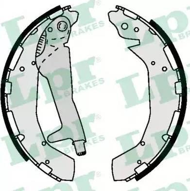 LPR 09370 - Jeu de freins, freins à tambour www.widencarpieces.com