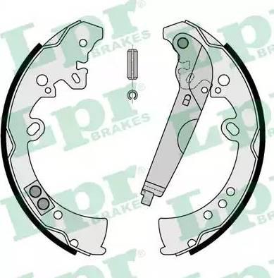 LPR 09205 - Jeu de freins, freins à tambour www.widencarpieces.com