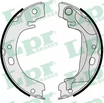 LPR 09760 - Jeu de mâchoires de frein, frein de stationnement www.widencarpieces.com