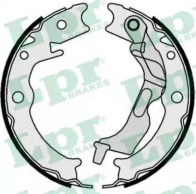 LPR 09780 - Jeu de mâchoires de frein, frein de stationnement www.widencarpieces.com