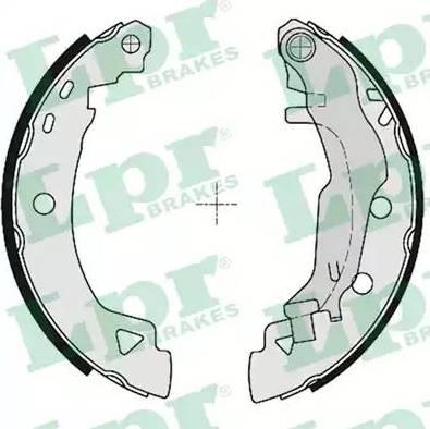 LPR 04925 - Jeu de freins, freins à tambour www.widencarpieces.com