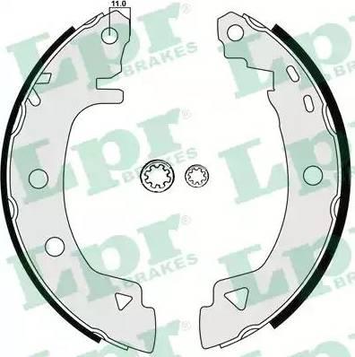 LPR 04920 - Jeu de freins, freins à tambour www.widencarpieces.com