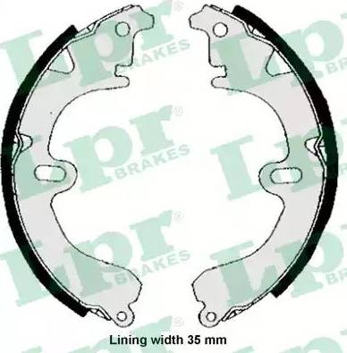 LPR 04530 - Jeu de freins, freins à tambour www.widencarpieces.com