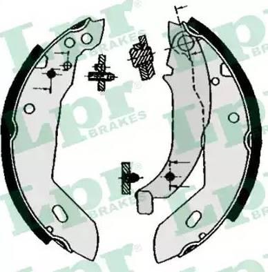 LPR 04670 - Jeu de freins, freins à tambour www.widencarpieces.com