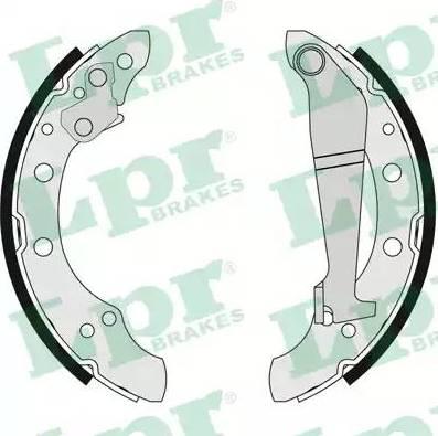 LPR 04100 - Jeu de freins, freins à tambour www.widencarpieces.com