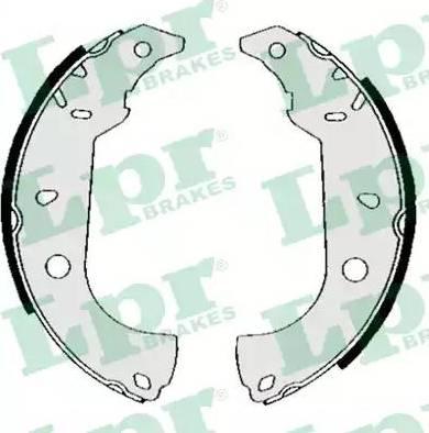 LPR 04860 - Jeu de freins, freins à tambour www.widencarpieces.com