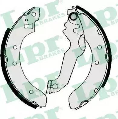 LPR 04800 - Jeu de freins, freins à tambour www.widencarpieces.com
