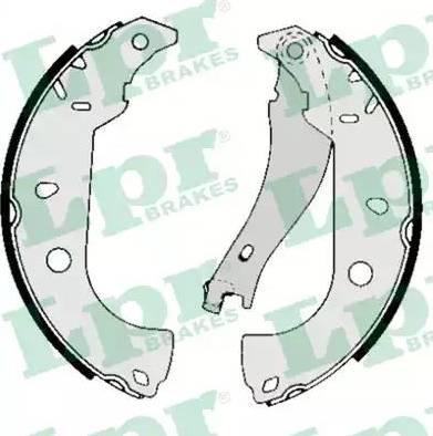 LPR 05050 - Jeu de freins, freins à tambour www.widencarpieces.com