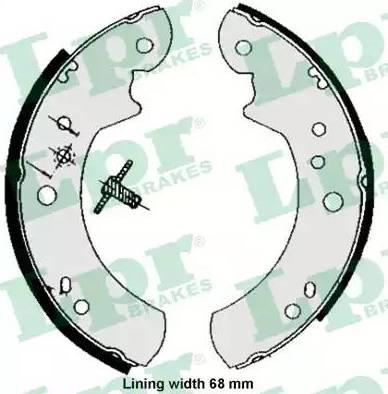 LPR 05060 - Jeu de freins, freins à tambour www.widencarpieces.com