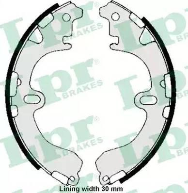 LPR 05810 - Jeu de freins, freins à tambour www.widencarpieces.com