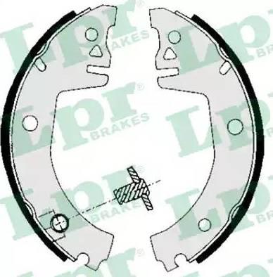 LPR 05780 - Jeu de freins, freins à tambour www.widencarpieces.com