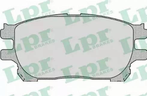 LPR 05P999 - Kit de plaquettes de frein, frein à disque www.widencarpieces.com
