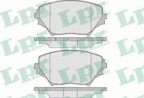 LPR 05P958 - Kit de plaquettes de frein, frein à disque www.widencarpieces.com