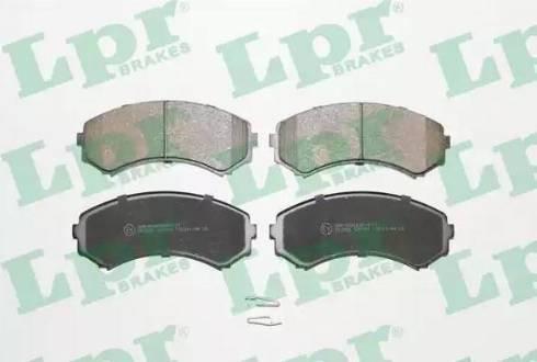 LPR 05P569 - Kit de plaquettes de frein, frein à disque www.widencarpieces.com