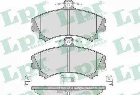 LPR 05P615 - Kit de plaquettes de frein, frein à disque www.widencarpieces.com