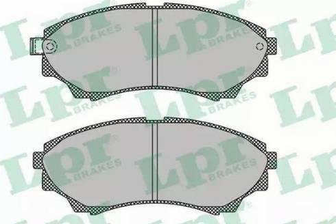 LPR 05P1499 - Kit de plaquettes de frein, frein à disque www.widencarpieces.com