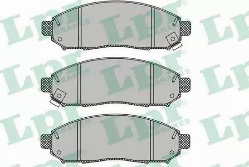 LPR 05P1495 - Kit de plaquettes de frein, frein à disque www.widencarpieces.com