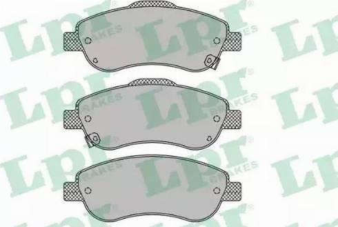 LPR 05P1456 - Kit de plaquettes de frein, frein à disque www.widencarpieces.com