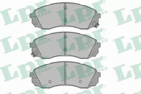 LPR 05P1451 - Kit de plaquettes de frein, frein à disque www.widencarpieces.com