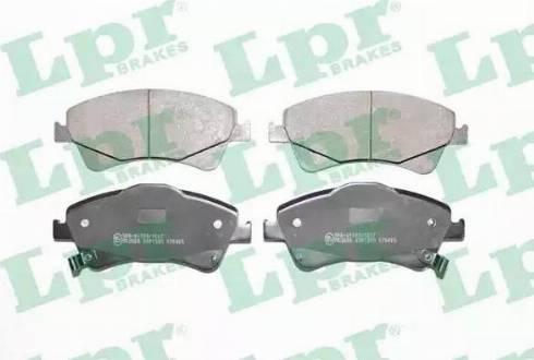 LPR 05P1589 - Kit de plaquettes de frein, frein à disque www.widencarpieces.com