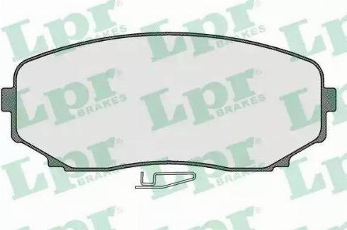 LPR 05P1573 - Kit de plaquettes de frein, frein à disque www.widencarpieces.com