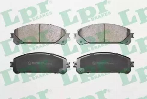 LPR 05P1691 - Kit de plaquettes de frein, frein à disque www.widencarpieces.com