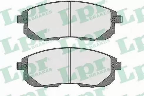 LPR 05P1606 - Kit de plaquettes de frein, frein à disque www.widencarpieces.com