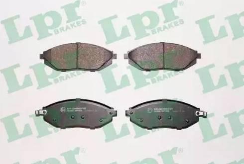 LPR 05P1629 - Kit de plaquettes de frein, frein à disque www.widencarpieces.com