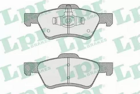 LPR 05P1622 - Kit de plaquettes de frein, frein à disque www.widencarpieces.com