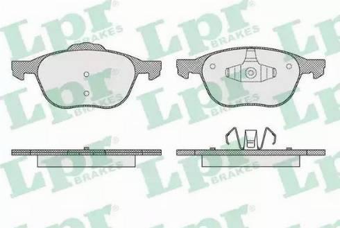LPR 05P1627 - Kit de plaquettes de frein, frein à disque www.widencarpieces.com