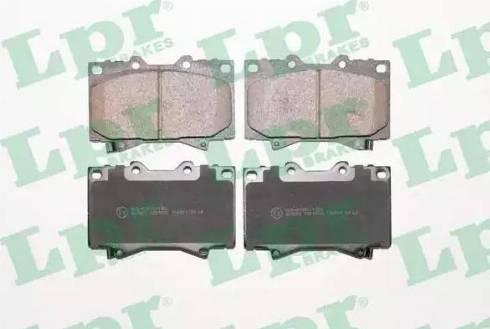 LPR 05P1050 - Kit de plaquettes de frein, frein à disque www.widencarpieces.com
