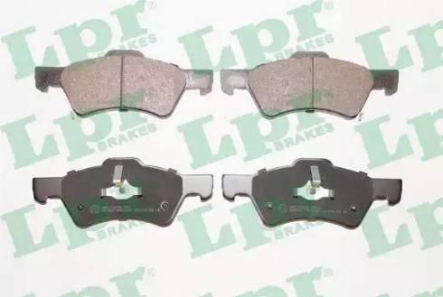 LPR 05P1006 - Kit de plaquettes de frein, frein à disque www.widencarpieces.com