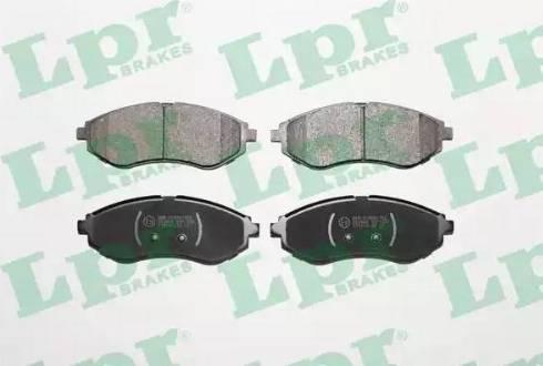 LPR 05P1080 - Kit de plaquettes de frein, frein à disque www.widencarpieces.com