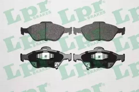 LPR 05P1283 - Kit de plaquettes de frein, frein à disque www.widencarpieces.com