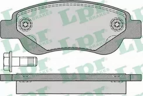 LPR 05P1235 - Kit de plaquettes de frein, frein à disque www.widencarpieces.com