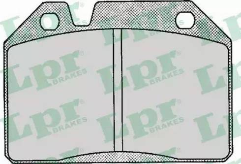 LPR 05P123 - Kit de plaquettes de frein, frein à disque www.widencarpieces.com
