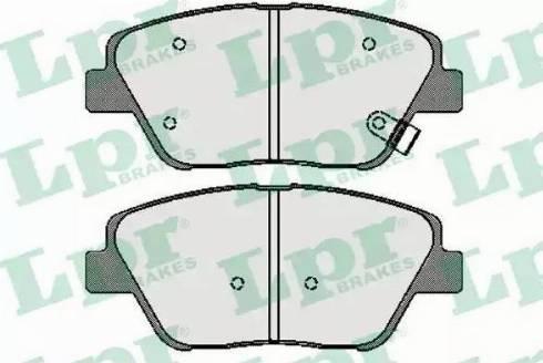 LPR 05P1736 - Kit de plaquettes de frein, frein à disque www.widencarpieces.com