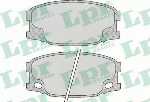 LPR 05P893 - Kit de plaquettes de frein, frein à disque www.widencarpieces.com