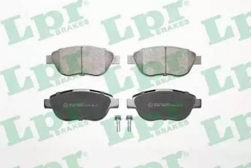 LPR 05P807 - Kit de plaquettes de frein, frein à disque www.widencarpieces.com