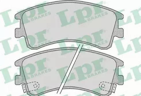 LPR 05P878 - Kit de plaquettes de frein, frein à disque www.widencarpieces.com