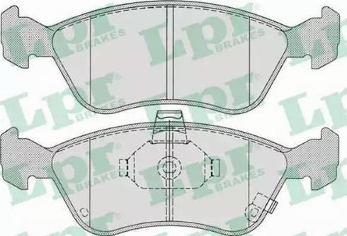 LPR 05P709 - Kit de plaquettes de frein, frein à disque www.widencarpieces.com