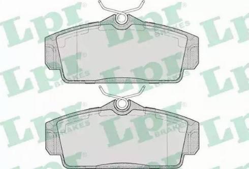 LPR 05P706 - Kit de plaquettes de frein, frein à disque www.widencarpieces.com