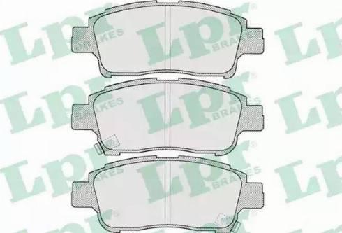 LPR 05P700 - Kit de plaquettes de frein, frein à disque www.widencarpieces.com